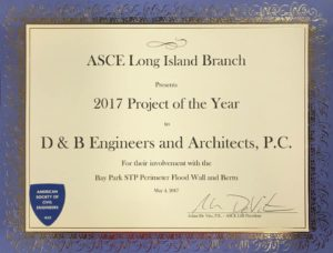 2017 Project of the Year - Bay Park STP Perimeter Flood Wall and Berm