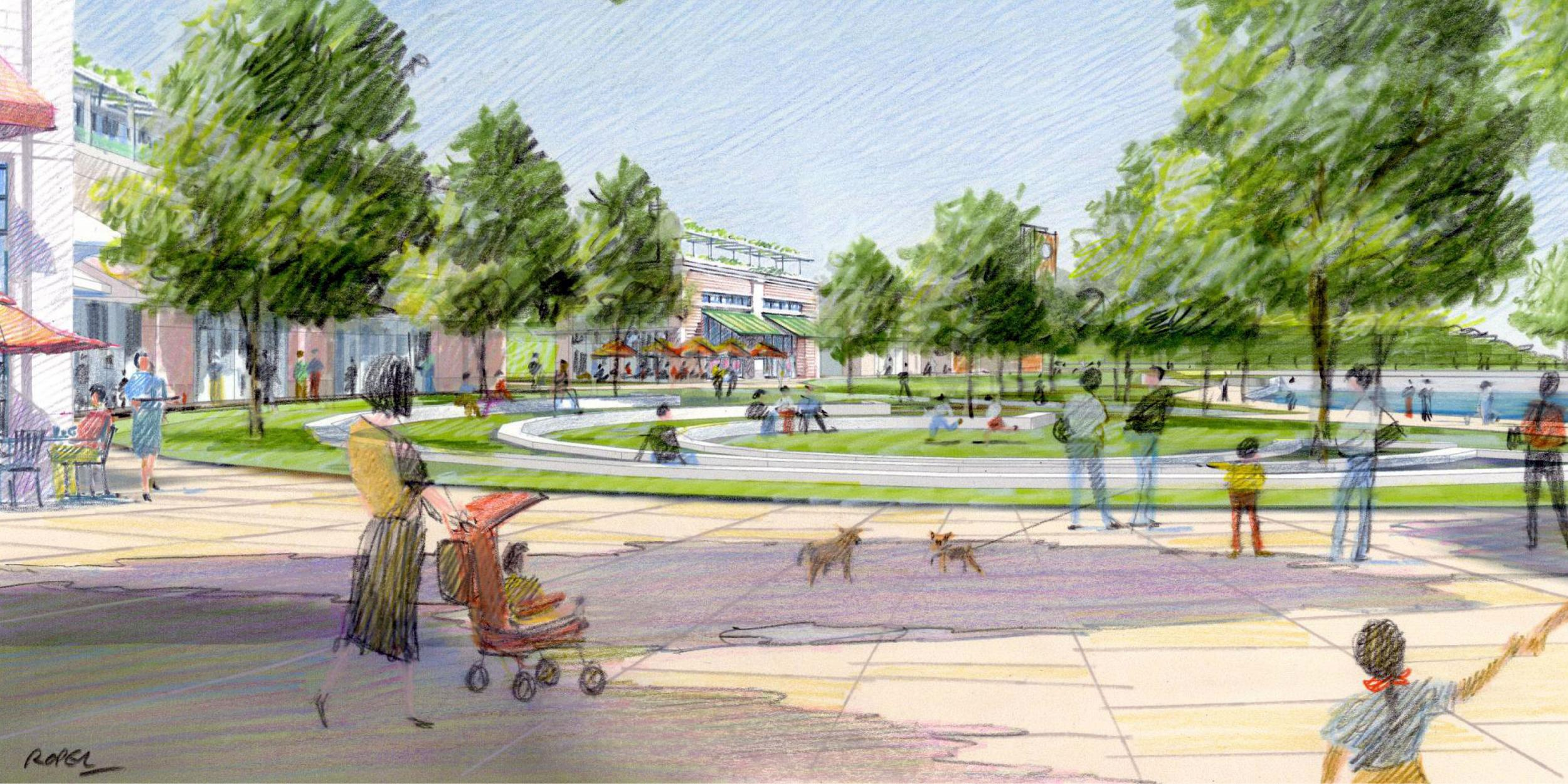 Concept art for City of Glen Cove Transportation Projects