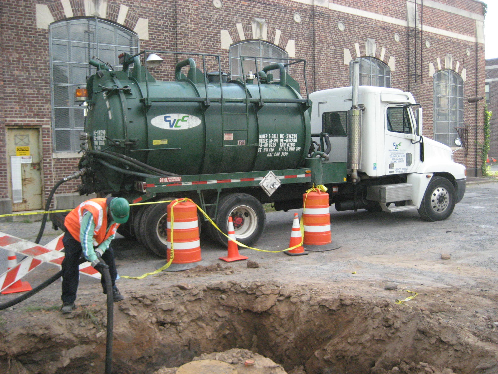 Tightness Test being performed on Underground Storage Tank utilizing a vacuum truck