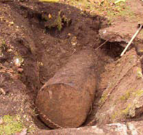 Exposed Underground Storage Tank
