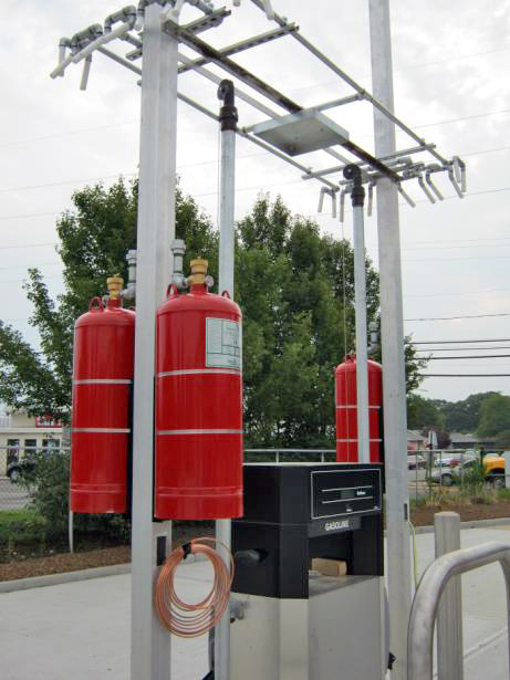 D&B designed a gasoline fueling facility for the Water and Fire District