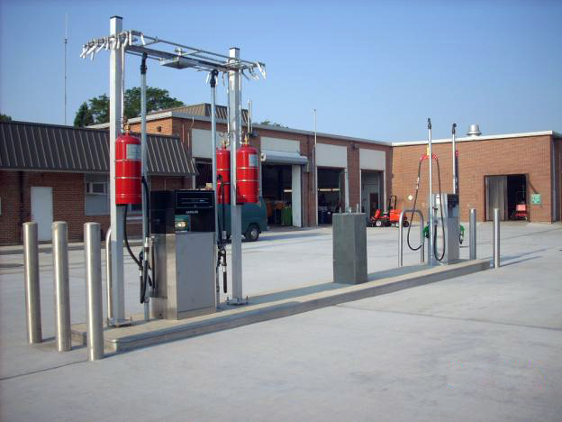D&B designed a gasoline fueling facility for the Department of Public Works
