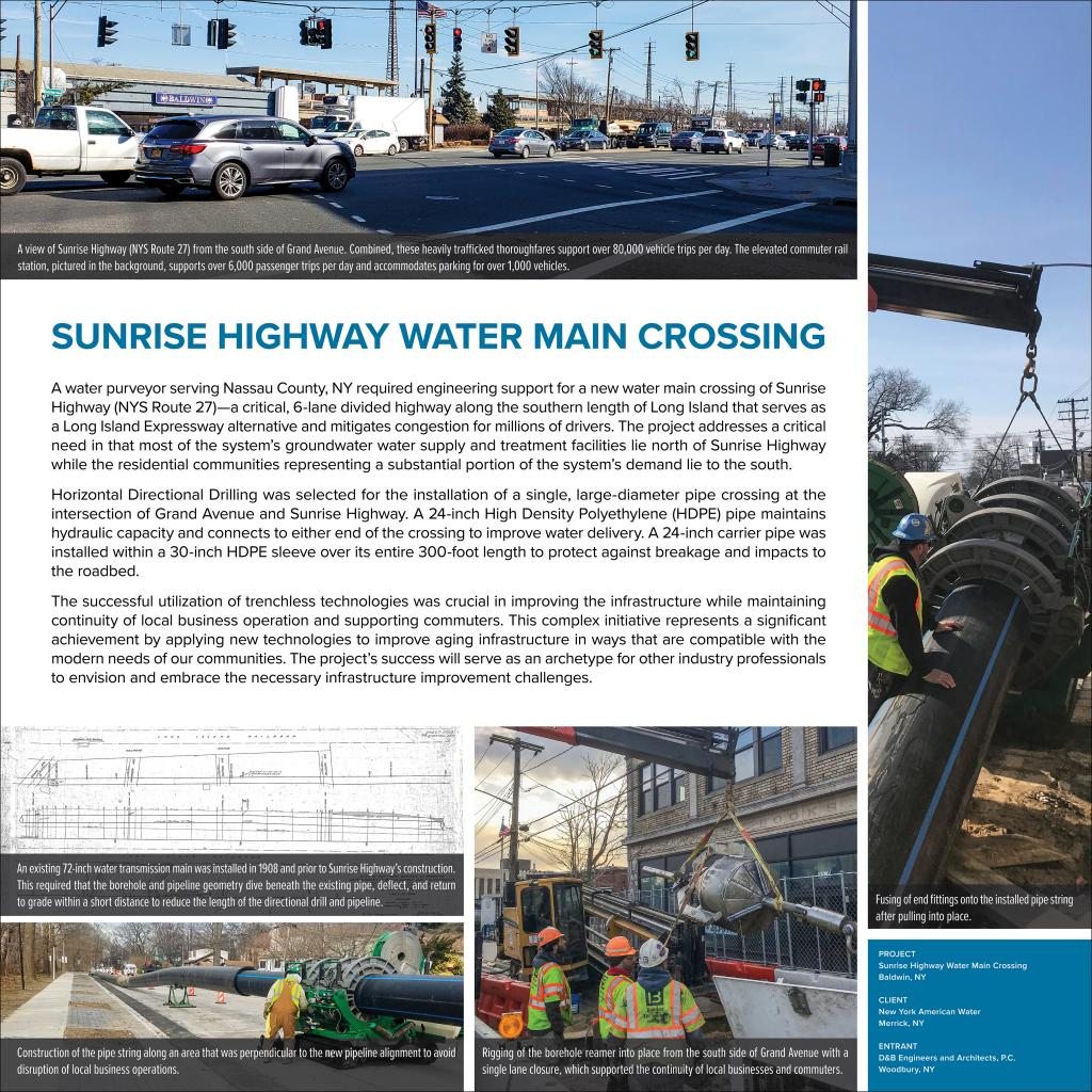 Sunrise Highway Water Main Crossing ACEC-NY Panel